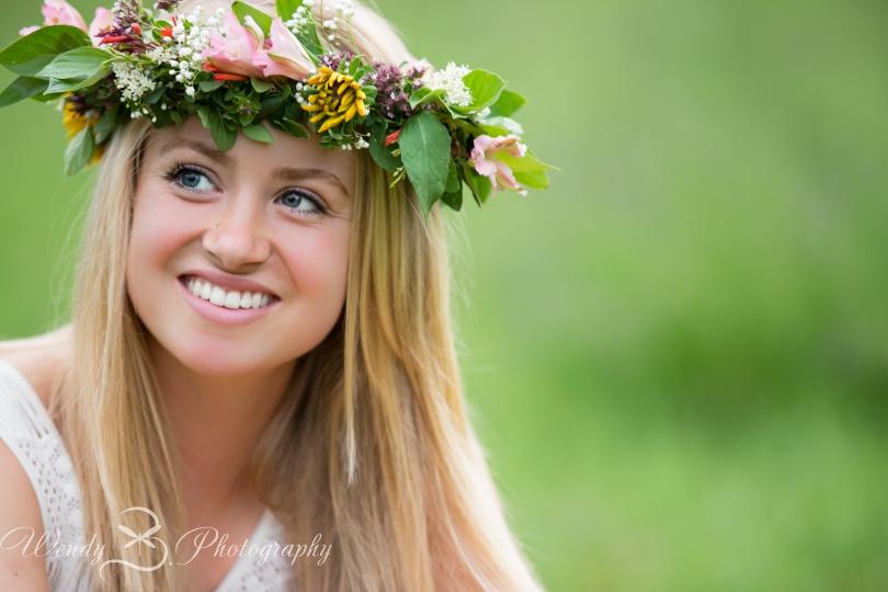 flower headpiece senior portrait